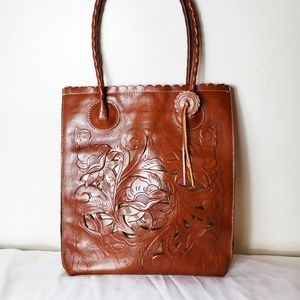 Patricia Nash Cutout Cavo Tote Florence Brown NWOT